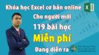Excel cơ bản khóa học online miễn phí cho người mới bắt đầu, dân văn phòng